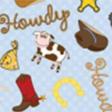 Babyville PUL Waterproof Diaper Fabric, Cowbaby, 64