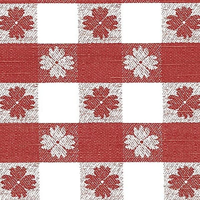 Flannel Backed Vinyl, Red Tavern Check, 54