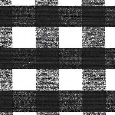 Flannel Backed Vinyl, Black & White Check, 54