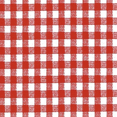 Flannel Backed Vinyl, Red Gingham, 54