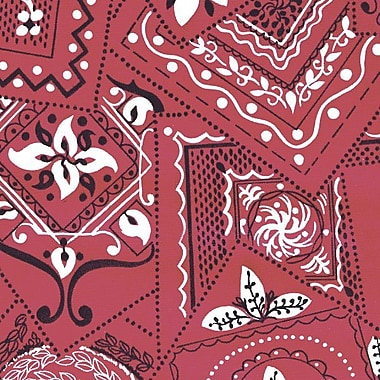 Flannel Backed Vinyl, Bandanna Red, 54