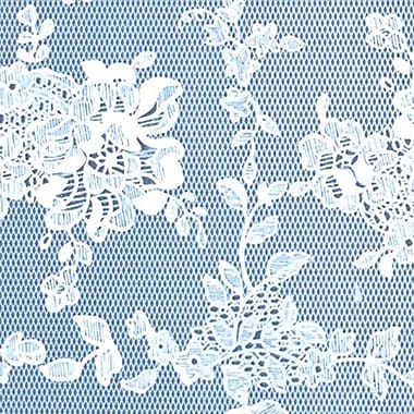 Flannel Backed Vinyl, Blue Lace, 54