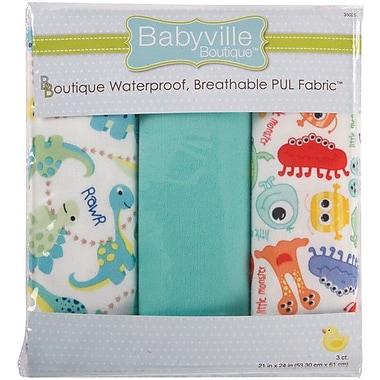 Babyville PUL Waterproof Diaper Fabric, Dinos & Monsters, 21