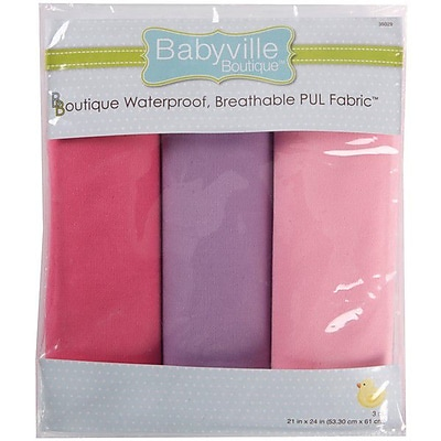 Babyville PUL Waterproof Diaper Fabric, Girl Solids, 21