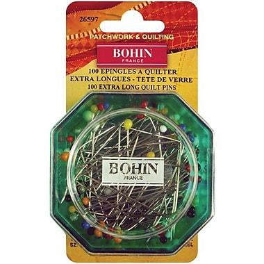 Bohin Glass Head Quilting Pins 1-7/8