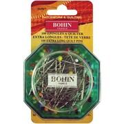 """Bohin Glass Head Quilting Pins 1-7/8"""", 100/Pack"""