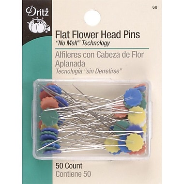 Dritz Flat Flower Head Pins, 2 inches, 50/Pack