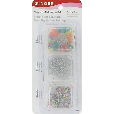 Singer Straight Pins, Assorted Sizes, 285/Pack