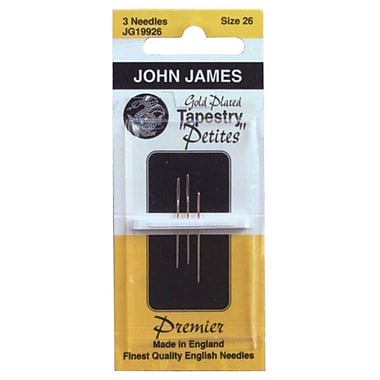 Gold Tapestry Petites Hand Needles, Size 26, 3/Pkg