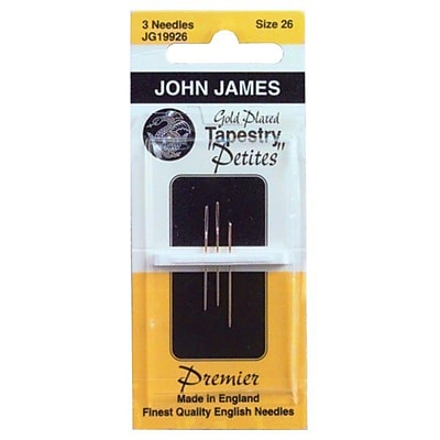 Gold Tapestry Petites Hand Needles, Size 28, 3/Pkg