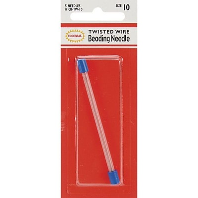 Colonial Needle Twisted Wire Beading Needles, Size 10, 5/Pack