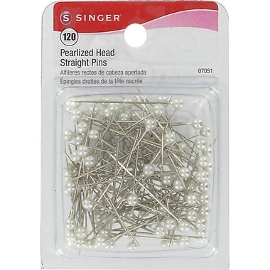Singer Pearlized Head Straight Pins 1-1/2