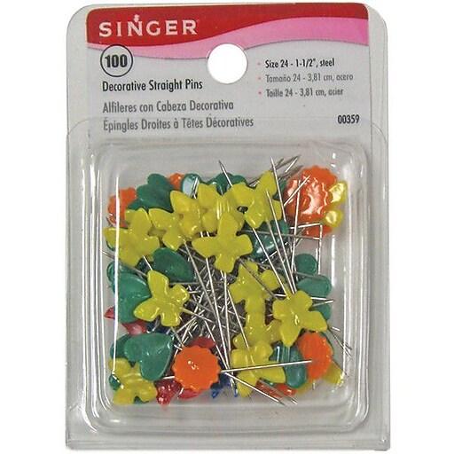 Decorative Straight Pins, 100/Pkg