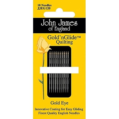 Colonial Needle Gold'n Glide Quilting Needles; Size 12, 10/Pack
