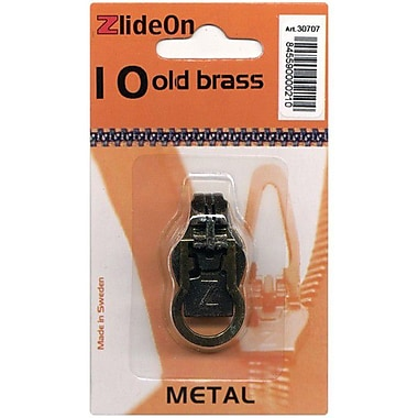 ZlideOn Zipper Pull Replacements Metal, Size 10, Old Brass