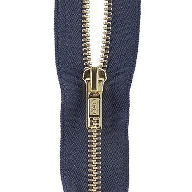 Heavyweight Brass Separating Metal Zipper, 24