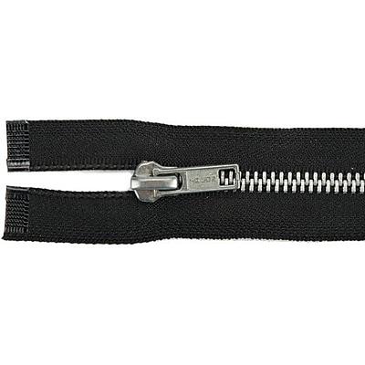 Heavyweight Aluminum Separating Metal Zipper, 20