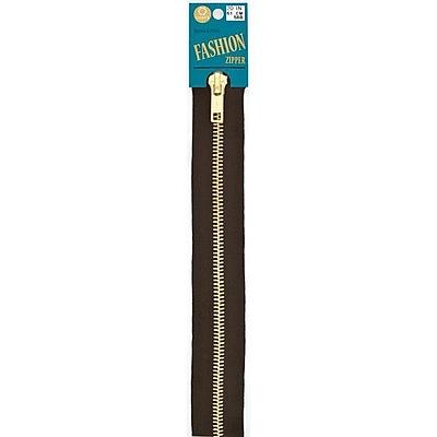 Fashion Metal Brass Separating Zipper, 18