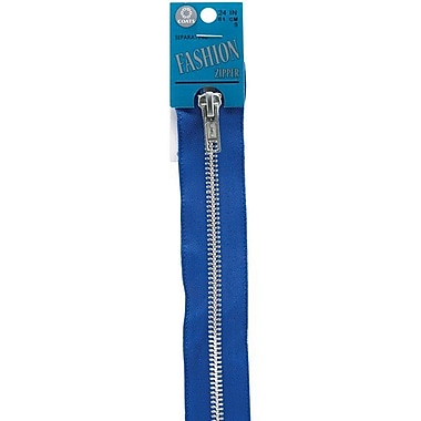 Fashion Metal Aluminum Separating Zipper, 24
