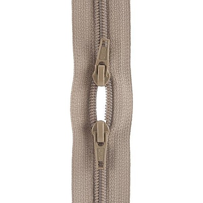 Purse Double Slider Zipper, 18
