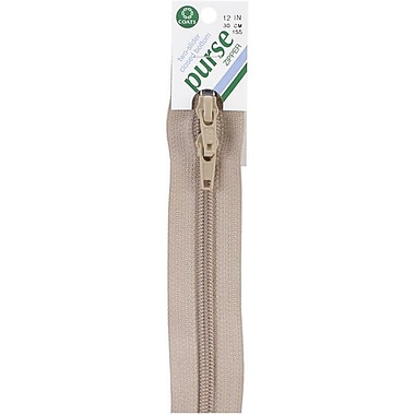 Purse Double Slider Zipper, 12