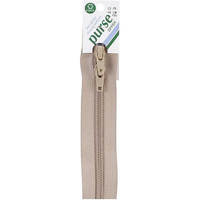 Purse Double Slider Zipper; 12