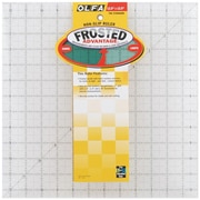 "Olfa Frosted Advantage Non-Slip Ruler, ""The Standard"", 12.5""X12.5"""