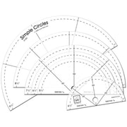 Simple Circles Rotary Cutting Rulers, 6/Pkg