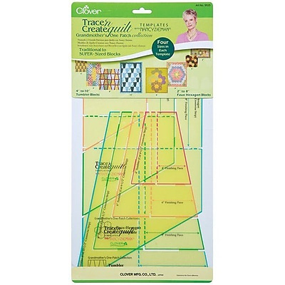 Trace 'n Create Quilt Templates With Nancy Zieman, Grandmother's One Patch Collection