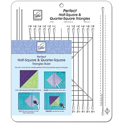 Perfect Half-Square & Quarter-Square Triangles Ruler, 10-1/2