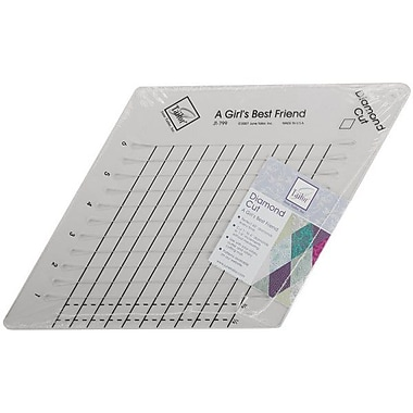Diamond Cut Slotted Ruler, 9