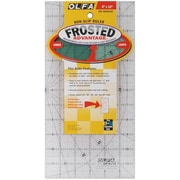 "Olfa Frosted Advantage Non-Slip Ruler, ""The Traveler"", 6""X12"""
