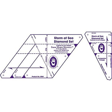 Multi-Sized Diamond Template Set, Storm At Sea 2/Pkg