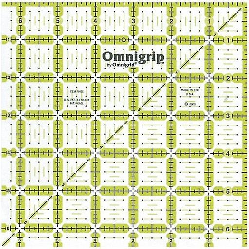 """Omnigrip Non-Slip Quilter's Ruler, 6-1/2""""X6-1/2"""""""