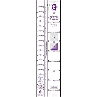 Log Cabin Ruler, 3/4