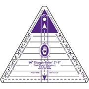 """60 Degree Triangle Ruler, 2"""" To 6"""""""