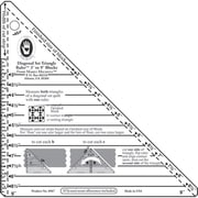 "Small Diagonal Set Triangle Ruler, 3""-9"" Blocks"