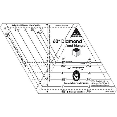 60 Degree Diamond & Triangle, One-Derful One-Patch Templates