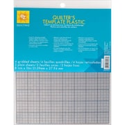 """Plastic Templates, 8-1/2""""X11"""", 6/Pkg"""