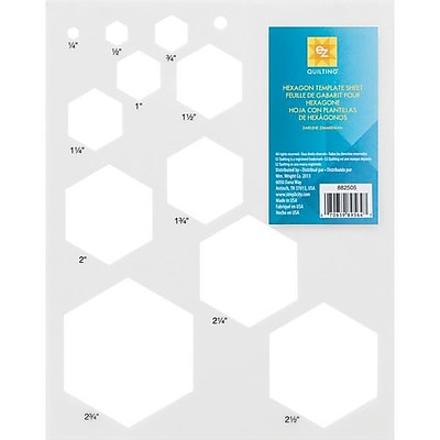 Hexagon Template Sheet