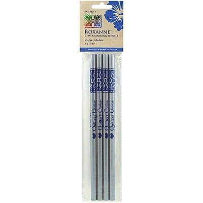 Water Soluble Chalk Marking Pencils, 4/Pkg, Silver