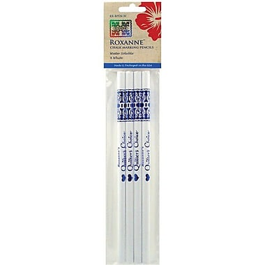 Water Soluble Chalk Marking Pencils, 4/Pkg, White