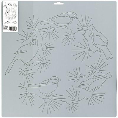 Quilt Stencils By Julie Mullin, Bird Wreath 14