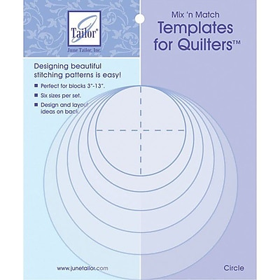 Mix'n Match Templates For Quilters, 6/Pkg, Circle