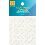Clear Fabric Grabbers, 25/Pkg