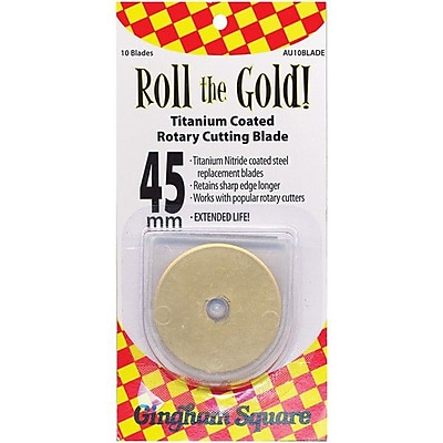 Roll The Gold! Titanium Coated Rotary Cutting Blade, 45mm, 10/Pkg