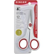 "Singer 00449 Sharp Tip 4.75"" Embroidery Scissors, Red/White"