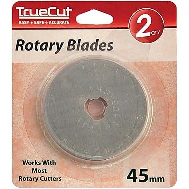 TrueCut Rotary Cutter Replacement Blades 45mm, 2/Pkg