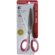 "Singer 7180 Sharp Tip 6.5"" Sewing Scissors, Pink/White"