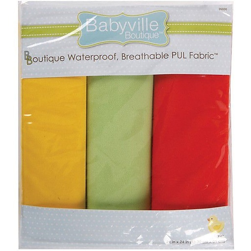 "Babyville PUL Waterproof Diaper Fabric, Neutral Solids, 21""X24"" Cuts"